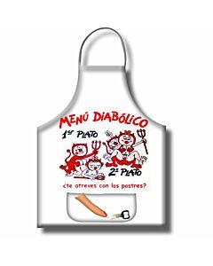 Tablier de menu diabolique avec ouvre-porte