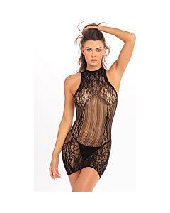 Reckless lace mini vestido negro