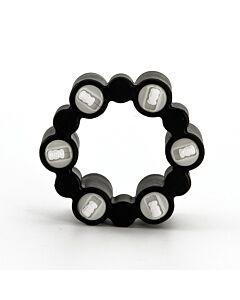 Teez toys anillo vibrador con 6 balas negro