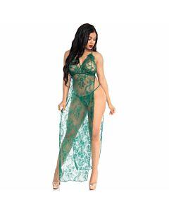 Leg avenue vestido de transparencias y tanga verde s/m