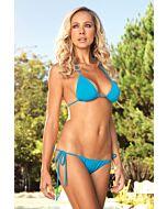 Leg avenue bikini brésilien triangle avec froncé turquoise