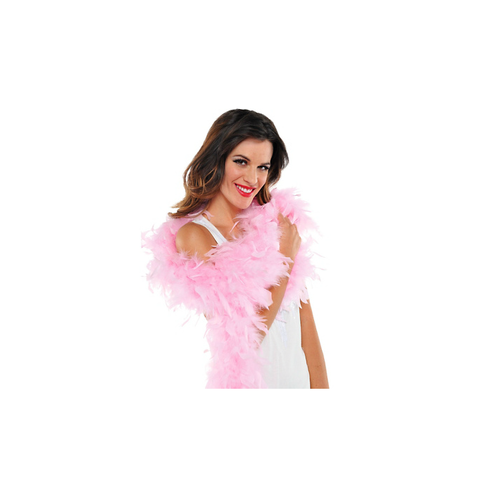boa de plumes rose 1,83 cm