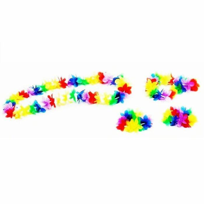 + Couronne + collier + bracelet cheville hawaïen