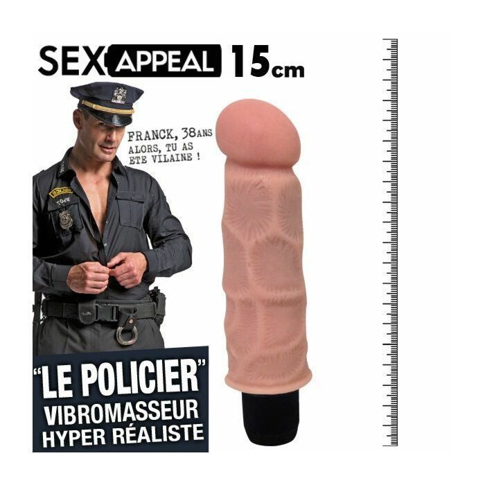 Sex policiers appel 15cm vibrateur réalistico
