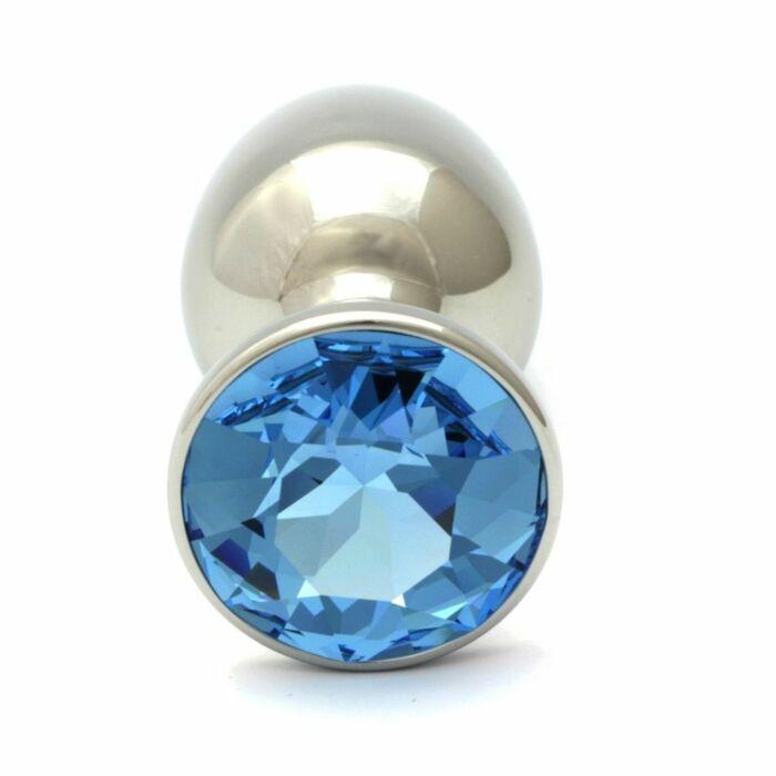 Cristal Swarovski aquamarine anal bouchon 7,5 cm / 27mm